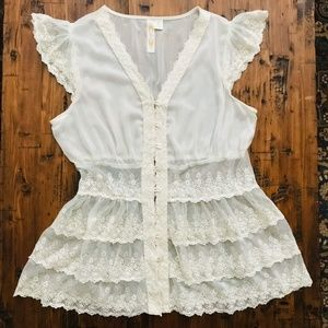 Boho flawless lace top